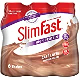 SlimFast Cafe Latte Shake Multipack Bottle, 325 ml - Pack of 6