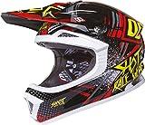 SHOT FURIOUS RAID Helm gelb/rot/sw. XL