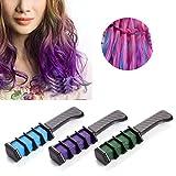 Tomasa Tiza de Pelo Cepillos y Peines Temporario para el cabello de color Comb Dye Salon Kit para Club de fiesta Cosplay peine del color de Hair