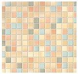 i.stHOME Klebefolie Möbelfolie Mosaik Pienza - 45 x 200 cm - Dekorfolie - Selbstklebende Folie, Bastelfolie, Selbstklebefolie