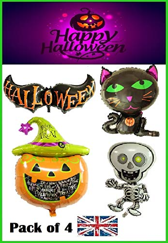 RMCtrends® Große Halloween-Folienballons, Partydekoration, 4 Stück