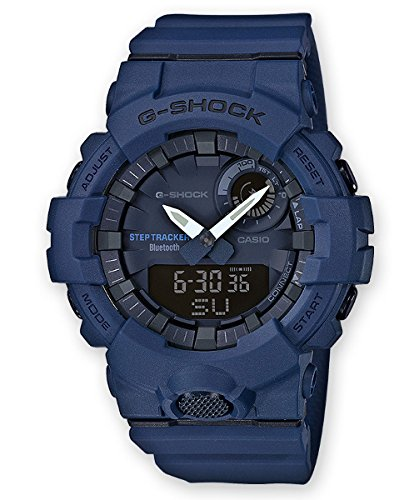 Casio Herren Analog Quarz Smart Watch Armbanduhr mit Harz Armband GBA-800-2AER
