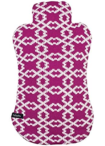 Ladelle Hotbotts Hot Water Bottle with Jersey Cover, Zola Design (74016) by Ladelle
