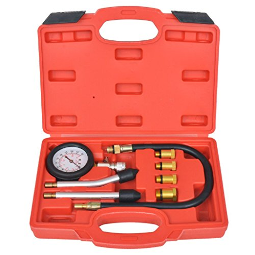 Tidyard 8-teiliges Benzinmotor-Kompressionstester-Kit Vehicles & Parts Workshop Equipment & Tools Hand Tools