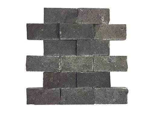 mosaico de piedra natural de mármol como pared piedra/piedra Pared/verblend piedra | revestimiento de pared para baño, cocina, vestíbulo o salón de auténtica piedra |..., negro