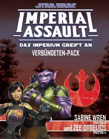 Asmodee FFGD4543 SW: Imperial Assault-Sabine Wren und Zeb Orrelios, Erweiterung