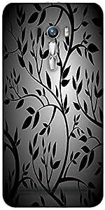 Snoogg Black Trees Seamless Vector Wallpaper Designer Protective Back Case Co...