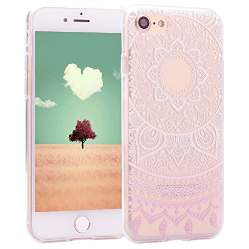 iPhone 7 Case Totem, Per Apple iPhone 7s Cover Silicone, Asnlove Custodia Crystal Case 3D (Anello Fiore Crystal Rose)