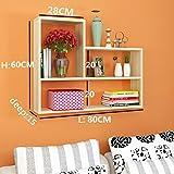 Willesego Wandregal Wandregal Bücherregal Wandregal Wanddekoration Küche Schlafzimmer Kreativ (Farbe: Weiß) (Farbe : Beige, Größe : -)