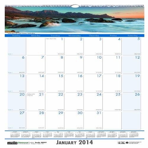 House of Doolittle Earthscapes Küsten Wandkalender 12Monate Januar 2014bis Dezember 2014, 30,5x 30,5cm, Farbe Foto, recyceltem (hod328)