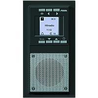 Peha D 20.485.64 - Radio RDS empotrada con función despertador, color gris