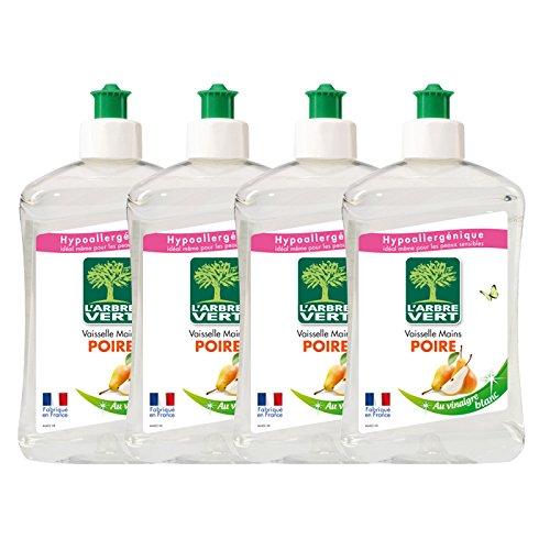 larbre-vert-vaisselle-mains-poire-vinaigre-blanc-500-ml-lot-de-4