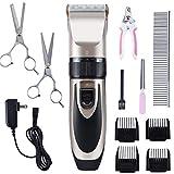 Ninonly Tierhaarschneider Haarschneidemaschine Schermaschine Profi Haustier Pflege Set Leise Tierhaarschneider Die Haarschneidemaschine ist geeignet für Katzen und Hunde Elektrisch, kabellos