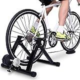 Sportneer Rullo per Allenamento, Supporto per Bici Supporto Magnetico in Acciaio per Bicicletta con Ruota di riduzione del Rumore per Esercizio al Chiuso