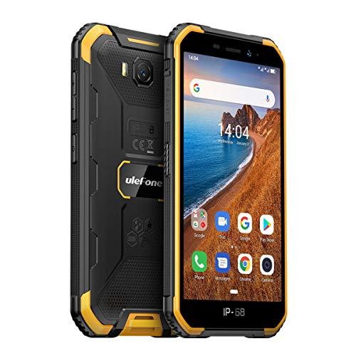 Ulefone Armor X6 (2020) Outdoor Handy Günstig (5,0 Zoll Display, 2GB + 16GB, Android 9.0, 4000mAh Akku, IP68 Smartphone wasserdicht stoßfest staubdicht, Dual SIM 3G, Face ID) Orange