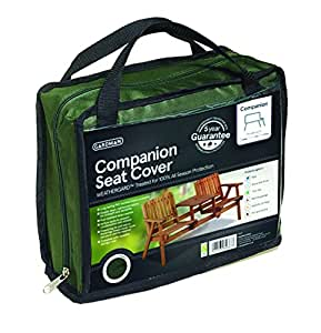 Gardman Protective Tête à Tête Bench with Table Cover–Green 34415