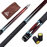 CSTB005, 13mm Tip : Cuesoul 58 Inch 19 Oz 1/2 Jointed Maple Billiard Pool Cue