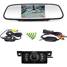 Podofo auto Backup telecamera wireless 5LCD TFT auto specchietto retrovisore Monitor con IR visione notturna (Gps Specchietto Retrovisore)