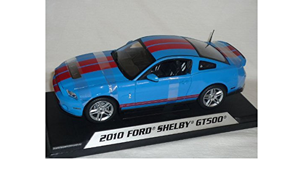 Shelby Ford Mustang 2010 Gt500 Gt 500 Blau Rote Streifen 1 18 Collectibles Modellauto Modell Auto Spielzeug