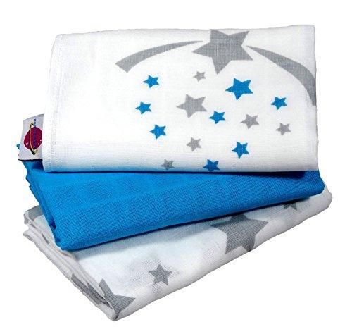 babymajaweltr-langes-en-mousseline-stars-etoiles-70x70-cm-3-pieces-aqua