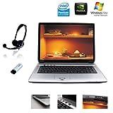 Hyrican NOT01131 43,2 cm (17 Zoll) WXGA Laptop (Intel Pentium T2080 1,73 GHz, 2GB RAM, 160GB HDD, Nvidia GF 8400M, DVD+- DL RW, Vista Premium)