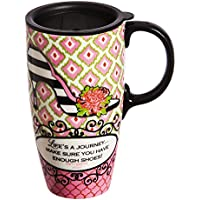 Life's A Journey 17 oz. Ceramic Latte Travel Cup with
