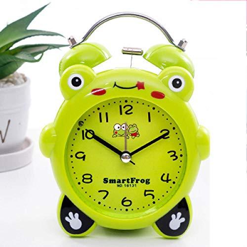 FPRW Reloj Despertador de Campana Doble para niños de Dibujos Animados Lindo de 3.5 Pulgadas, Reloj...