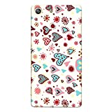CrazyInk Premium 3D Back Cover for Sony M5 Dual – Valentine Heart