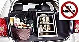 IMPAG® Hunde-Transportbox Hundebox für Auto/Kofferraum | Aus stabilem Metall in 2 Größen | Für Hunde und Katzen | OHNE giftiges Aluminium