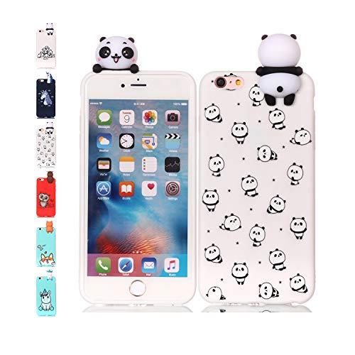 78a5244406c Funda iPhone 6S Plus 6 Plus Pequeño panda Transparente Squishy Kawaii  Juguete Toy Animal Silicona TPU