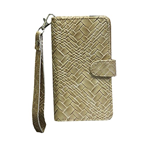 J Cover A9 Bali Leather Carry Case Cover Pouch Wallet Case For Panasonic Eluga L2 Coffee