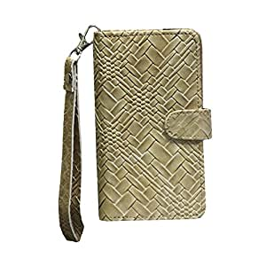 J Cover A9 Bali Leather Carry Case Cover Pouch Wallet Case For Intex Cloud 3G Gem Coffee
