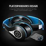 Mpow Bluetooth Kopfhörer Over-Ear Wireless Headset mit integriertem Geräuschunterdrückung-Mikrofon und weichem Ohrpolster, Dual 40mm Treiber, 20 Stunden Spielzeit, 3,5 mm AUX, On-Ear Steurung für Mpow Bluetooth Kopfhörer Over-Ear Wireless Headset mit integriertem Geräuschunterdrückung-Mikrofon und weichem Ohrpolster, Dual 40mm Treiber, 20 Stunden Spielzeit, 3,5 mm AUX, On-Ear Steurung
