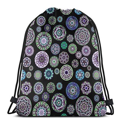 f87c5362c4 best pillow Boho Blooms Violet Skulls_7486 3D Print Drawstring Backpack  Rucksack Shoulder Bags Gym Bag for