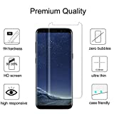 Galaxy S8 Screen Protector Glass, Full Cover (3D Curved) Tempered Glass Screen Protector for Samsung Galaxy S8 (Transparent)