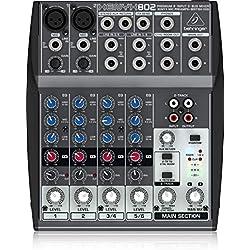 Behringer XENYX 802 Table de mixage Egaliseur tri-bande 2 Entrées micro 1000 g