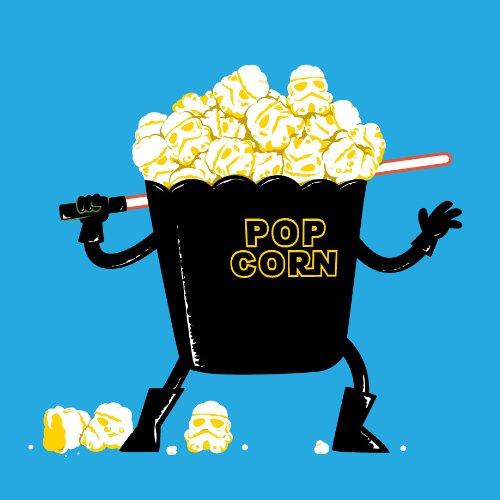 Pop Corn Königreich Platz Film Parodie W/Popcorn & Sword-VINYL Aufkleber -