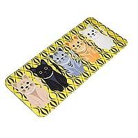 KangRuiZhe Lovely Cats Pattern Bedroom Kitchen Mat Rug,47x20 Inches (Yellow)
