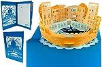 """'L' oggetto 3d """"Venezia Skyline è in filigrana ausgestanzten articoli, che sono assemblate a mano. Questa scheda architettura Lin POP Up non è solo come un biglietto di auguri, ma come un' opera d' arte in carta. Si tratta di un biglietto di auguri d..."""