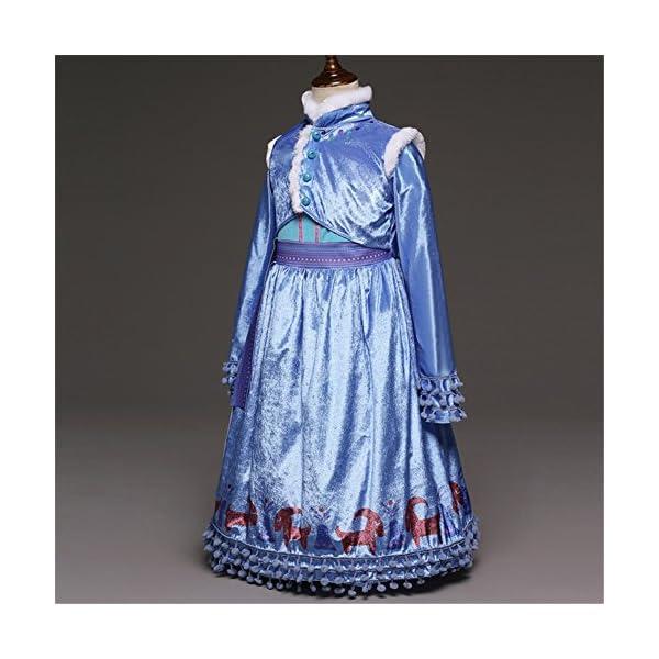Principessa Girls Blu Snow Elsa Queen Costume Cosplay Operato dal Partito Ragazze Abito da Sposa con la Disposizione… 3 spesavip