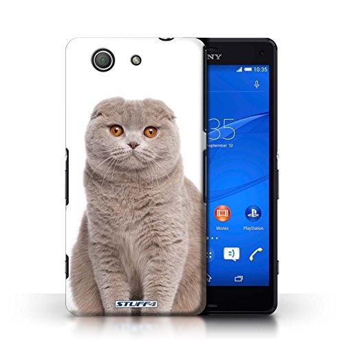 Kobalt® Imprimé Etui / Coque pour Sony Xperia Z3 Compact / Peterbald conception / Série Espèces de chats Scottish Fold