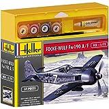 Heller 50235 Focke Wulf 190 A8/F3 - Maqueta de avión de caza, diseño de modelo de la Segunda Guerra Mundial