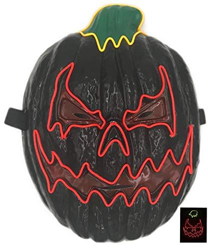 Mädchen Kostüm Für V Vendetta - Leisurely Lazy EL Wire Leuchtmaske, leuchtende LEDs, für Halloween, DJ, Geburtstag, Cosplay, Grimace, Festival, Party, Show Masken (Pumpkin)