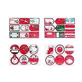 wwzEITpV 4pcs umbau-Aufkleber Weihnachts Self Adhesive Geschenk-umbau-Aufkleber Weihnachtsfest Dekorative Geschenk Labels