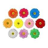 Fermaglio per Capelli Multicolore Fiore del Sole Nuziale Fiore Capelli Clip Spiaggia Fermagli Capelli Barrette Accessori Festa di Nozze per Donna 10 Pezzi