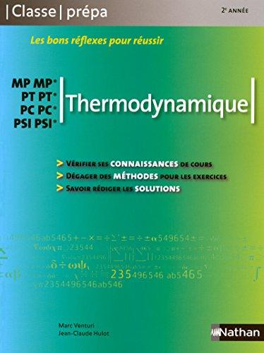 Thermodynamique - MP-MP* PT-PT* PC-PC* PSI-PSI*