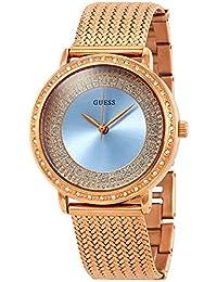 Guess - Reloj Willow w0836l1 Mujer Azul Acero Chapado Oro Rosa a7b0e02fac9e
