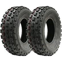 Par de neumáticos Slasher Quad, 21x7-10 Wanda Raza neumático E Marcado neumáticos 21