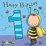 twizler 1. Geburtstag Karte, für Jungen, mit Bumble Bee–Ein Jahr alt–Alter 1–Kinder Geburtstag–Jungen Geburtstag Karte