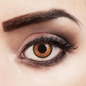 aricona Kontaktlinsen – Orange braune Jahreslinsen ohne Stärke – Natürliche braune Kontaktlinsen farbig ohne Stärke